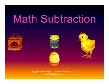 Glen Doman - Subtraction Dot Cards