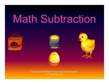 Glen Doman - Subtraction Dot Cards