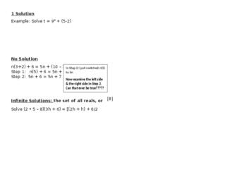 Glencoe Algebra Textbook Lesson 1-5 Equations Guided Notes