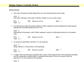 Glencoe Biology Chapter 1 The Study of Life