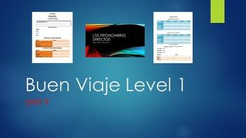 Glencoe Buen Viaje Level 1 Unit 9 COMPLETE UNIT PACKAGE!