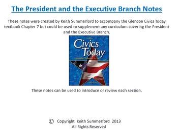 glencoe civics today chapter 7 the executive branch and the rh teacherspayteachers com Civics Today Test Answers Civics Today Glossary
