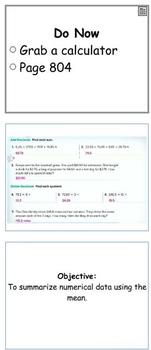 Glencoe Course 1 Ch 11 Flipchart (Grade 6): Statistical Measures