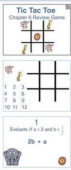 Glencoe Course 1 Ch 6 Flipchart (Grade 6): Review Game Expressions