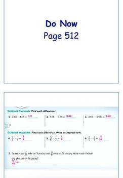 Glencoe Course 1 Ch 7 Flipchart (Grade 6): Equations
