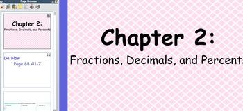 Glencoe Course 1 Chapter 2 Flip Chart (Grade 6)