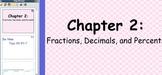Glencoe Course 1 Ch 2 Flipchart (Grade 6): Fractions, Deci