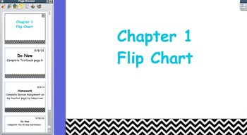 Glencoe Course 1 Math Chapter 1 Flipchart (Grade 6)