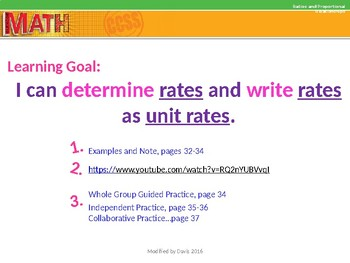 Glencoe Math Course 1/Chapter 1/Lesson 3 Rates and Unit