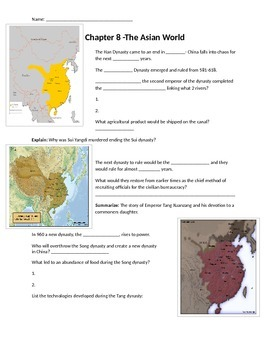 Glencoe - World History - Chapter 8 notes 31w/quiz