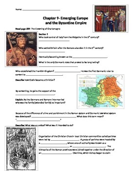 Glencoe - World History - Chapter 9 notes 33w/quiz