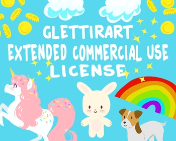 GlettirArt Extended Commercial Use License For Clipart, Unlimited Uses