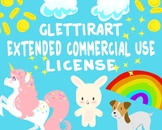 GlettirArt Extended Commercial Use License For Clipart, Un