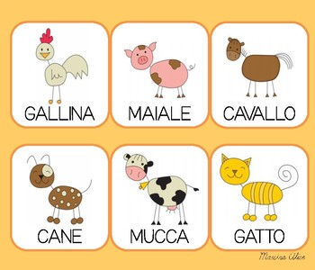 Gli animali (italian words)