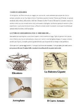 Gli articoli indeterminativi with Leonardo DaVinci