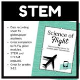 """""""Science of Flight"""" Glider Data Recording Sheet"""