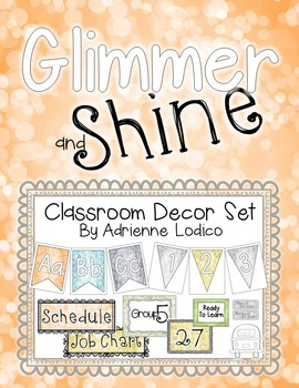 Glimmer and Shine Classroom Decor Set ~ Relaxed and pretty class theme