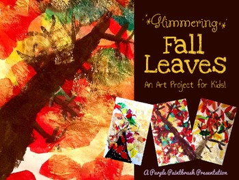 Glimmering Fall Leaves: An Art Project for Kids