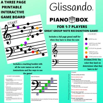 Glissando Board Game- Grand Staff Note Recognition