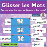 Core French Glisser les Mots  Blend and Segment French Words | Lettres SASSOON