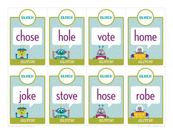 Glitch Short o / CVCe o Phonics Game - Words Their Way Game