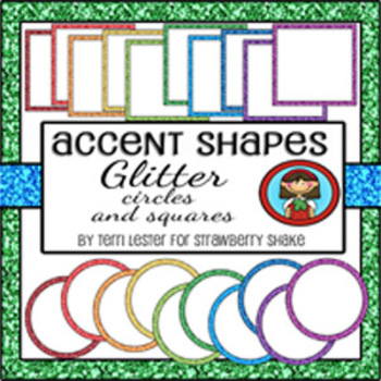 Glitter Accents Coordinating Shapes for Personal and Commercial Use