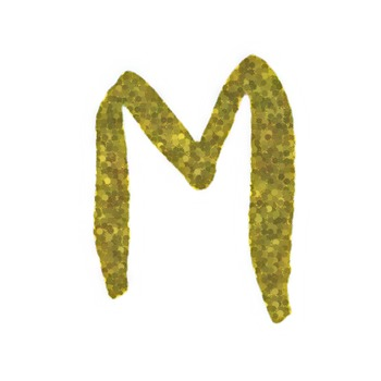 Glitter Alphabet Clip Art