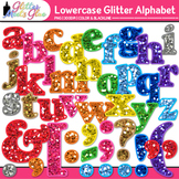 Alphabet Letters Clip Art {Rainbow Glitter Lowercase & Punctuation Marks}