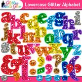 Alphabet Letters Clip Art {Rainbow Glitter Lowercase & Punctuation Marks}