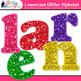 Alphabet Letters Clip Art | Rainbow Glitter Lowercase & Punctuation Marks