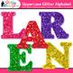 Alphabet Letters Clip Art   Rainbow Glitter Uppercase & Punctuation Marks