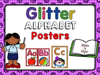 Glitter Alphabet Posters