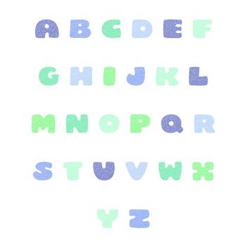 Glitter Alphabet Prints - ABC Art Prints - Alphabet Poster