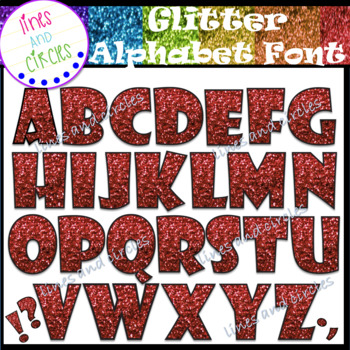 Glitter Alphabet Set 1