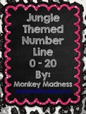 Glitter Animal Print Number Line