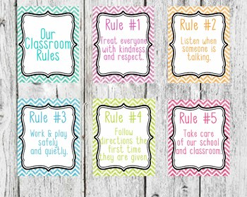 Glitter Background Classroom Rules, Classroom Decor, 5 classroom rules