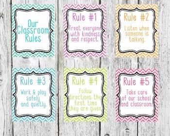 Glitter Background Classroom Rules, Classroom Decor, 5 cla
