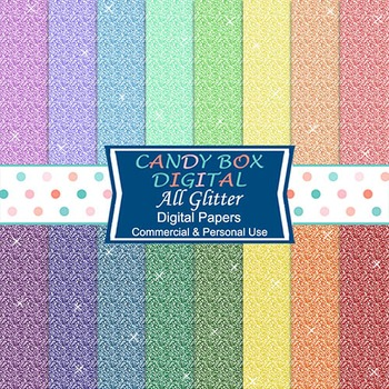Rainbow Glitter Background Papers for Blogs and Scrapbooks