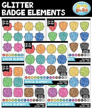 Glitter Badges Clipart Mega Bundle {Zip-A-Dee-Doo-Dah Designs}