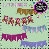 Glitter Banners Clip Art