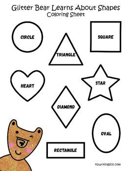 coloring shapes worksheet 1 page free free free