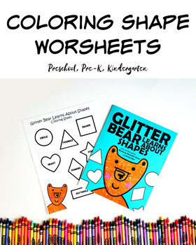Coloring Shapes Worksheet Combo Package - 9 Pages