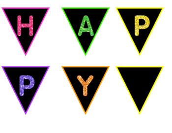 Glitter Birthday Decor Set