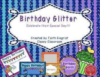 Glitter Birthday Packet~ Editable