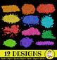 Glitter Blot Design Element Clip Art Set