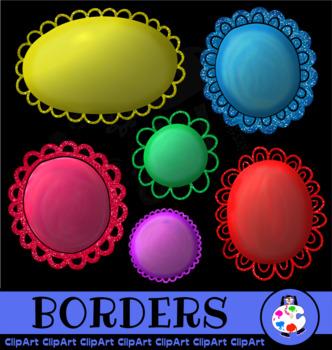 Glitter Border Clip Art