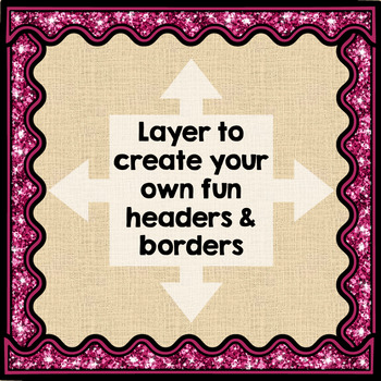 Glitter Borders - Bulletin Board Headers