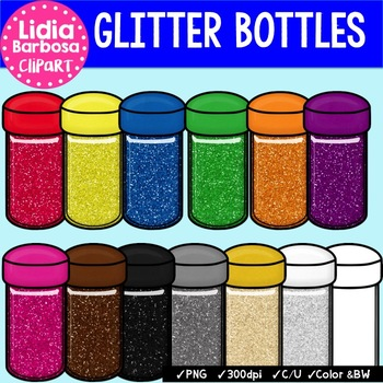 Glitter Bottles {Clip Art for Teachers}