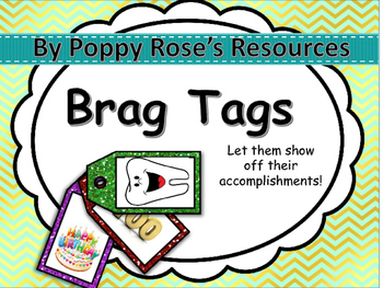 Glitter Brag tags For The Year!