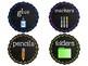 Glitter Chalkboard Supply Labels